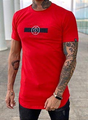 Camiseta Longline Trace Red - Mais 71 Clothing