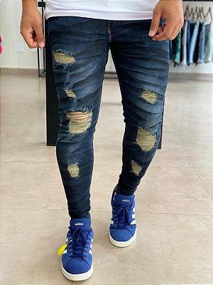 Calça Jeans Skinny Destroyed Colmes - J Jones