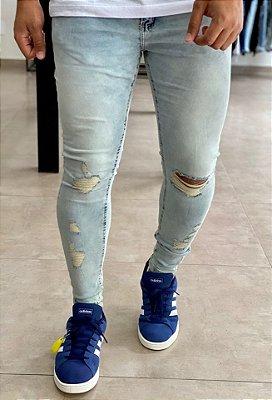 Calça Jeans Dirty Skinny Destroyed Artigas - Creed Jeans