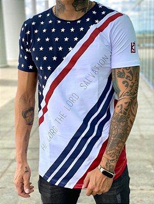 Camiseta Longline New Faixa Diagonal - King Joy