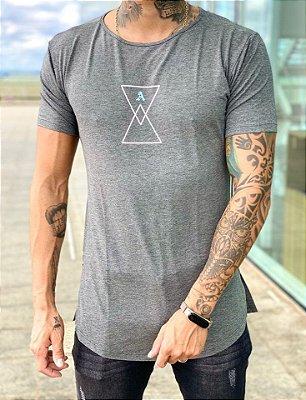 Camiseta Longline Grey Skull - Alltribe