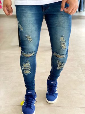 Calça Jeans Skinny Destroyed Trad - Kawipii