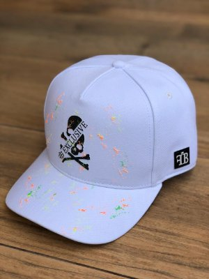 Boné Snapback White Skull Splash - FB Clothing