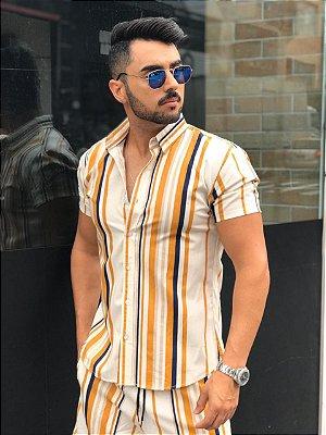 Camisa Manga Curta Listrada New Caramel - Exalt Urban