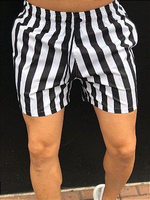 Shorts Listrado Black White - Exalt Urban