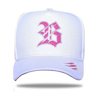 Boné Snapback New Tiger White Pink - BLCK