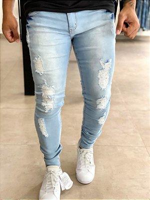 Calça Jeans Skinny Eden Destroyed - Zip Off