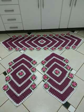 jogo de tapetes 3 peças