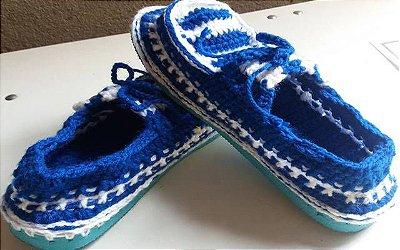 Sapato de crochê