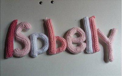 Letras de crochê