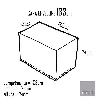 Capa para mesa dobrável Envelope Led Digital  - 183x74x76cm