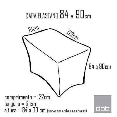 Capa para mesa dobrável Elastano Branca P - 122x61x84e90cm