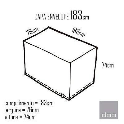 Capa Envelope Branca para mesa dobrável G - 183x76x74cm