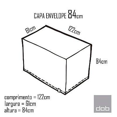 Capa Envelope Branca para mesa dobrável P - 122x61x84cm