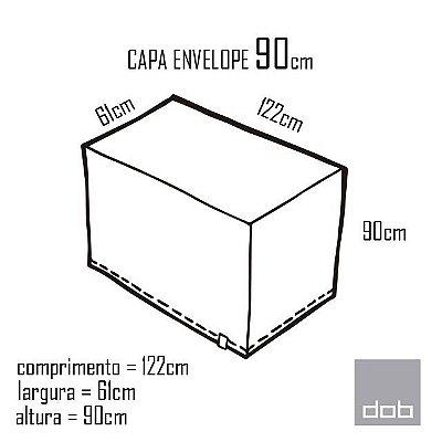 Capa Envelope Branca para mesa dobrável P - 122x61x90cm