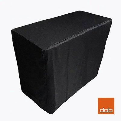 Capa Envelope Preta para mesa dobrável P - 122x61x74cm