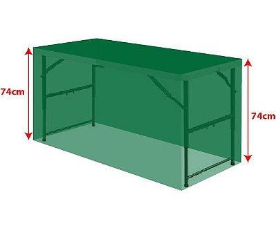 Personalizar capa para mesa dobrável P 122x61x74cm