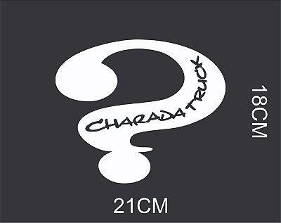 Adesivo Charada Interrogação 18x21cm - BRANCO