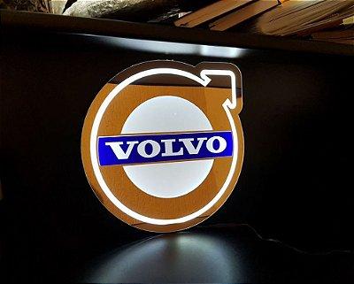Logomarca Volvo em Acrílico com LED
