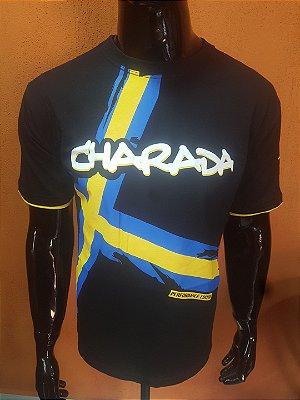 Camiseta CHARADA Preta Performance Edition VOLVO Interrogação nas Costas