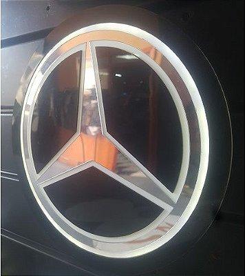Logomarca Mercedes-Benz em Acrílico com LED