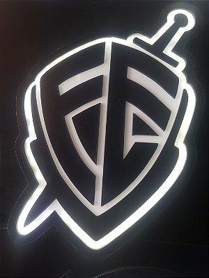 Logomarca Escudo da Fé em Acrílico com LED