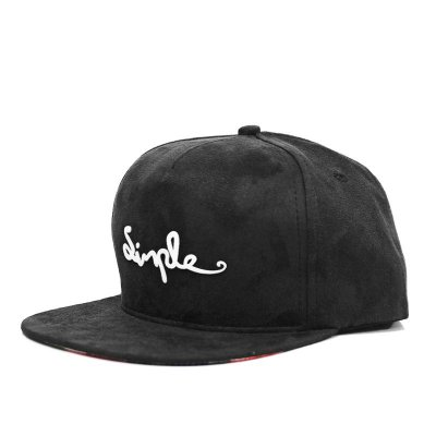 Boné Simple Snapback Camurça Black
