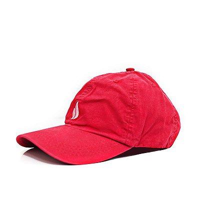 Boné Simple Dad Hat Logo Vermelho