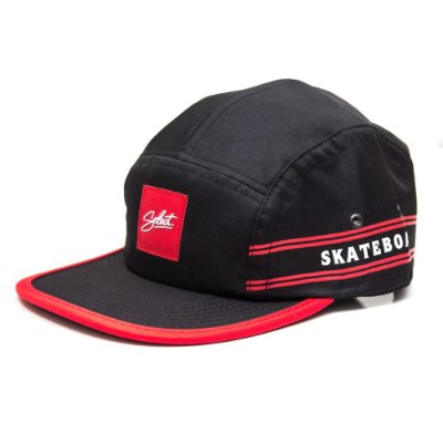 Boné Fivepanel Select Logo Black N Red