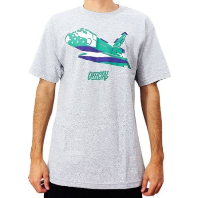 Camiseta Official Space Shuttle Mescla Importada