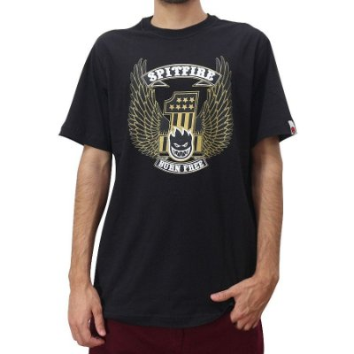 Camiseta Spitfire Burn Free Preta