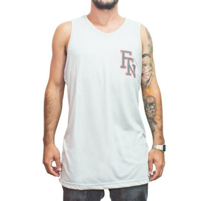 Camiseta Regata Foton Skateboards Ande e Entenda Mescla