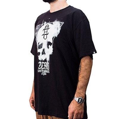 Camiseta Zero Skateboards Preta Lighter Skull