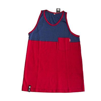 Camiseta Regata Freeday Vermelha/Azul