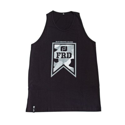 Camiseta Regata Freeday Tag Preta