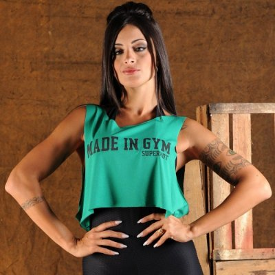 Camiseta Fitness Cropped Made in Gym