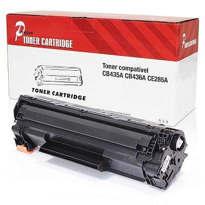 Toner Compatível HP CB435A CB436A CE285A   P1005 P1505 M1120 M1210 M1212 M1130   Universal Premium