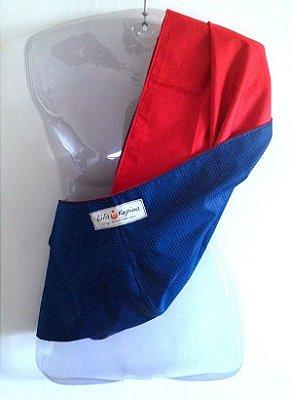 Pouch G vermelho + azul