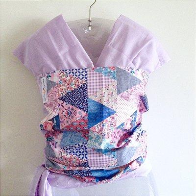 Wrap lilás + patchwork floral