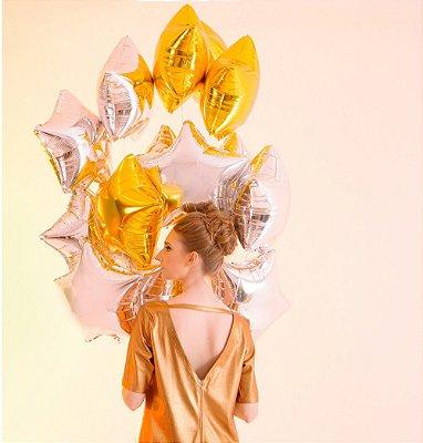 Vestido Camisetão Dourado