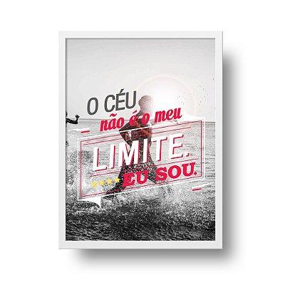 Poster Triathlon - O Céu Não é o meu Limite. Eu sou