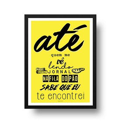 Quadro Poster Los Hermanos - Na Fila do Pão