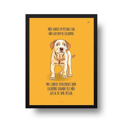 Quadro Poster Cachorro - Confiança