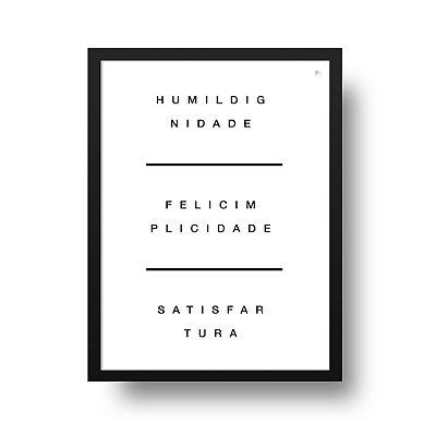 Poster Palavras - O Tripé da Vida
