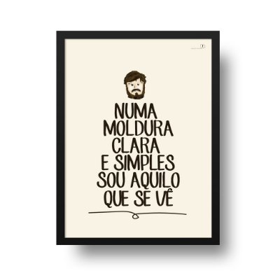 Poster Los Hermanos - Moldura Clara e Simples