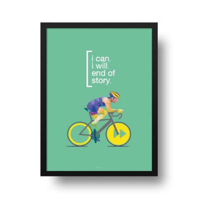 Poster Ciclismo - I can, I will