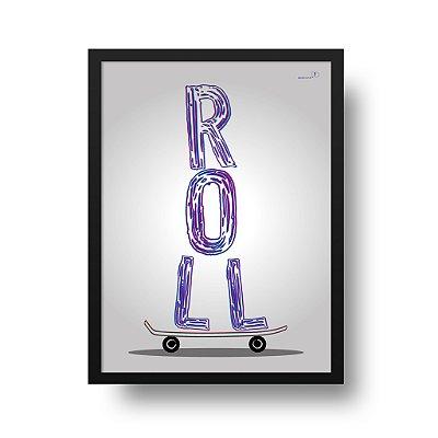 Poster Skate - Roll