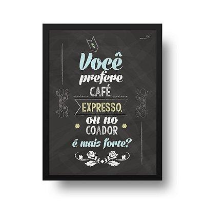 Poster Café - No Coador é mais Forte?