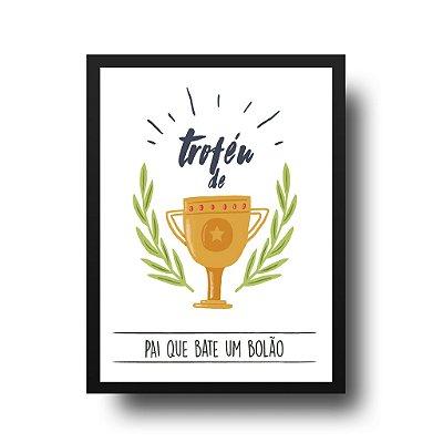 Quadro Poster Decorativo Para Pai Troféu - Palavras, Homenagem, Pais