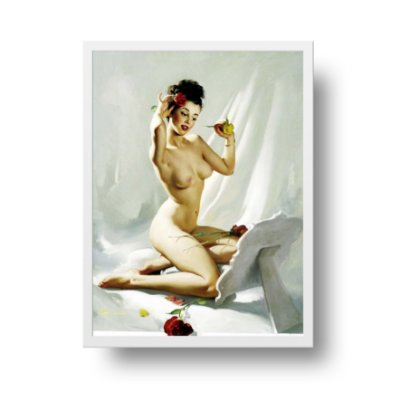 Quadro Poster Decorativo Pin Up Girl Perfection - Vintage, Retrô